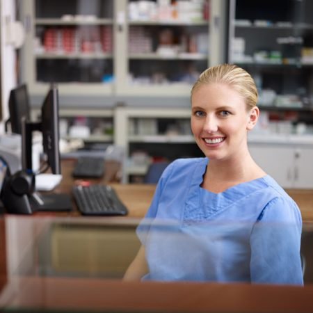 Receptionist helps with AMD patient